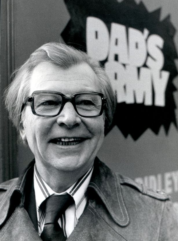 Clive Dunn looking very happy indeed.