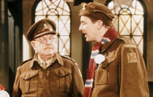 Image result for dad's army mainwaring and Pike